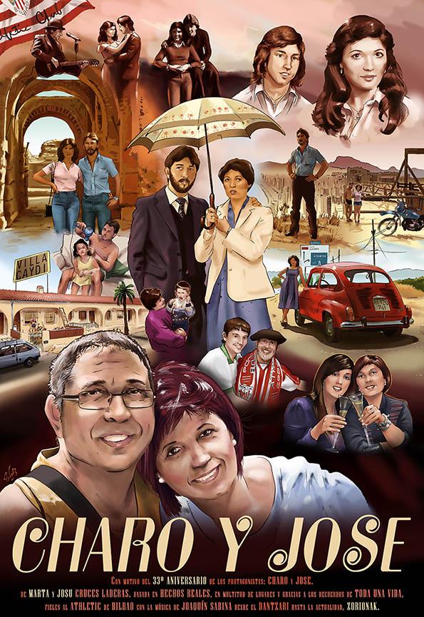Cartel Retrato de Cine Charo y Jose web