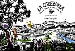 Cartel La Cabezuela todo color pequeño